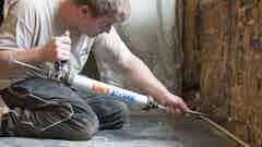 Denkmalgeschütztes Wohnhaus, West Sussex - Neuverputzen nach aufsteigender Feuchtigkeit