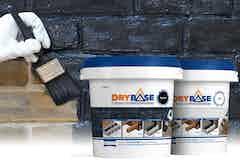 Das Drybase Angebot beinhaltete eine Auswahl an abdichtenden Dichtbeschichtungen zur Verwendung an Wänden und Böden