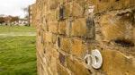 Testen der Absorption des Mauerwerks nach der Behandlung