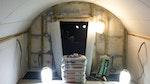 Auftragung von Oldroyd Xv Clear auf Wände und Decken des Untergeschosses