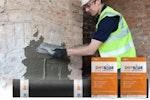 Drybase Flex Haftspachtel an verschmutzen Schornstein anbringen