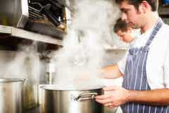 Cooking produces water vapour