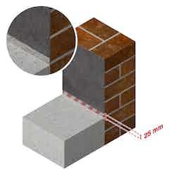 Drybase Flex Boden-Wand Verbindungsdetails