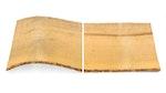 Vergleich von verzerrtem, brüchigem Holz und mit Roxil behandeltem Holz
